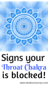 Signs your throat chakra is blocked