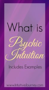 Psychic intuition is so interesting.
