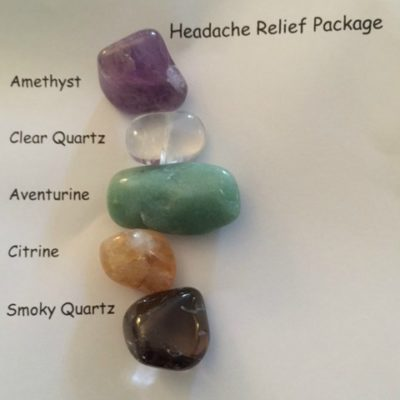 healing crystals headache relief package