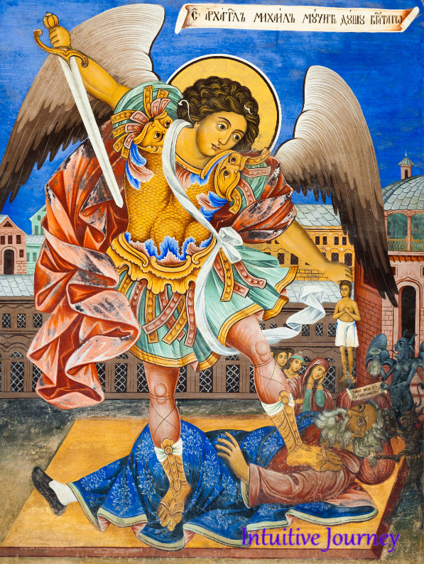 Archangel Michael with sword
